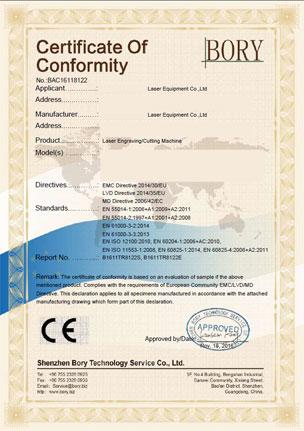 Certificado CE para los equipos de láser de LiquiLaser